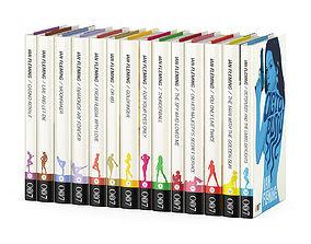 James Bond books series 3D model