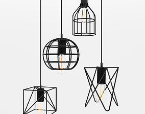 3D Cage Pendant Lights 2