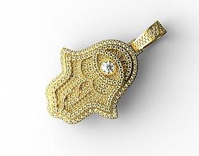 luxury Hamsa hand Pendant Full Stones 3D print model