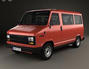 3D model Fiat Ducato Passenger Van 1981