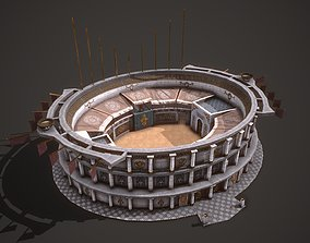 3D asset Colosseum 01