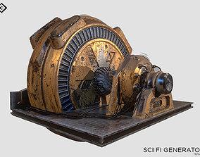 sci-fi Generator 3D asset game-ready