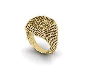 3D printable model matting signet ring