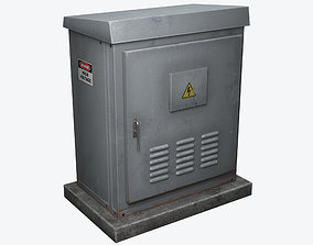 Electrical Box 3 3D asset low-poly