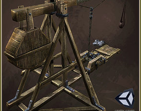 Animated Medieval Trebushet 3D asset
