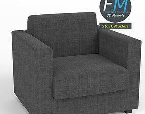 Single seater sofa 3D