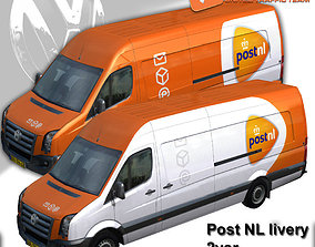 Volkswagen Crafter Van Post NL 3D model