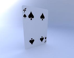 3D model Four of Spades