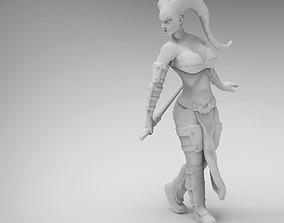3D print model 28mm Tattoo Female Space Warrior