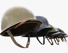 3D model 8 Helmets Collection UE4 and Unity