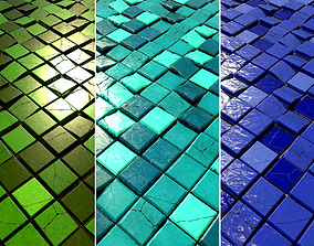 3D asset Floor and Wall Tiles Game Textures