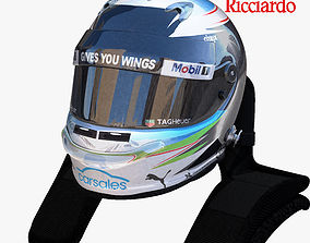 3D asset Ricciardo helmet 2017
