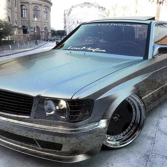 Mercedes C126 ULTRA Widebody