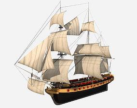 PBR HMS Bounty 3D model