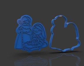 3D print model Christmas Cookie Cutter Nativity