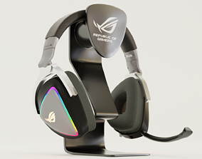 3D Delta Rog Headphone And Stand