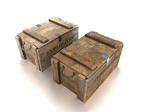 3D model Explosives crate 1 PBR