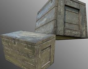 3D model PBR Wooden ammunition box - Game-Ready