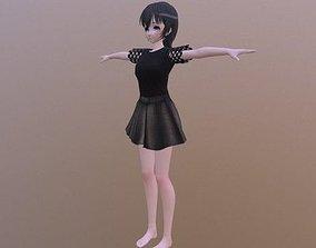3D model Brenda - Rigged Anime Character
