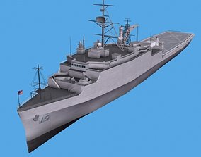 3D LHA Tarawa Assault Ship