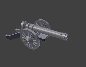 18th Century Field cannon 3D asset