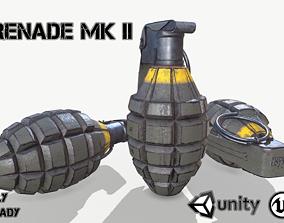 3D model VR / AR ready Grenade Mk II