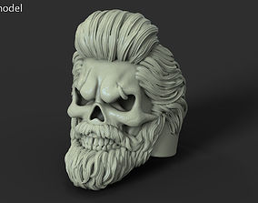 3D printable model Skull with beard vol1 ring