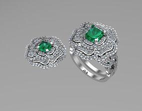 Chanel rings and earrings 3D printable model