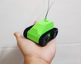 Mini tank robot v1 3D print model