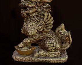 3D model LionDragon statue