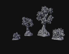 Trees and Bushes Scenery Set 3D printable model