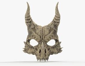 Demon Skull Mask 3D printable model
