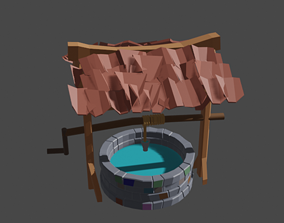 midieval Medieval Well 3D model