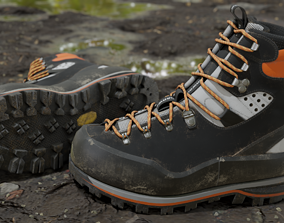 Mountaineering Boots 3D model realtime