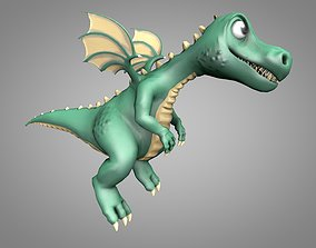 3D asset Dragon Cartoon