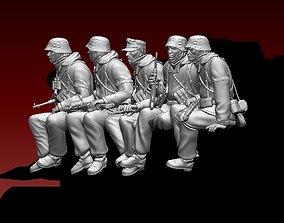 3D printable model German soldiers crew