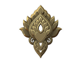 Middle eastern style pendant ornament 3D print model