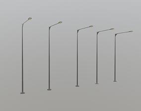 Street Light 3D asset game-ready