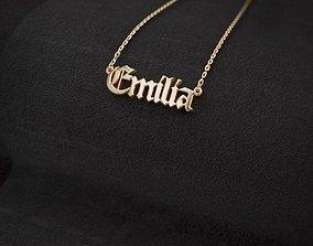 3D printable model Name pendant Emilia