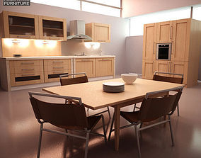 Kitchen Set I1 3D asset