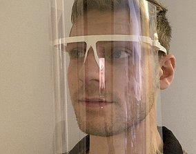 3D print model Folding Face Shield Design
