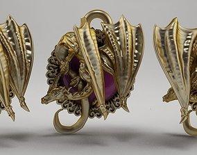 3D printable model pendant Dragon jewelry