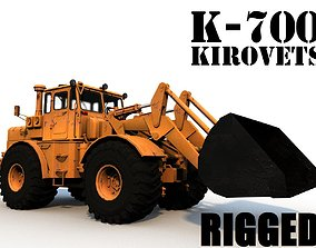 3D model K-700 Kirovets Bulldozer