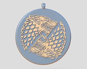 Direwolves medallion 3D printable model