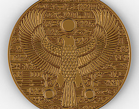 Horus ancient Egypt pendant gold coin 3D print model