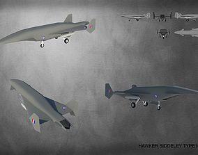 3D model HAWKER SIDDELEY TYPE 1019E2