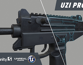 3D asset UZI Pro Submachine Gun
