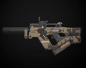 3D asset game-ready Sci-Fi rifle