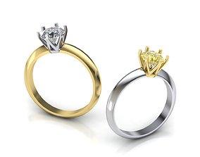 Tiffany ring 1ct stone 3D printable model