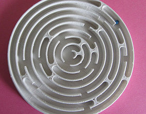 3D print model pinball maze